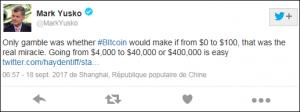 Mark Yusko fait l'éloge du Bitcoin sur Twitter